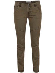 Khaki dámské slim kalhoty s.Oliver