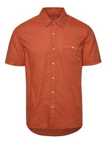 Oranžová pánska košeľa s krátkym rukávom Quiksilver