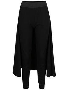 Pantaloni negri Silvia Șerban cu aplicație amplă pe partea din spate