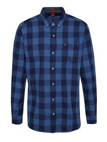 Modrá pánska kockovaná košeľa s.Oliver