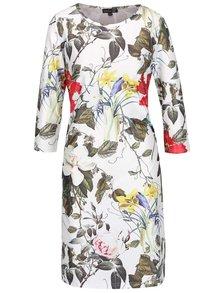Krémové kvetované šaty s 3/4 rukávom Smashed Lemon
