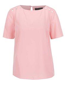 Růžová volná halenka s detaily na ramenou Dorothy Perkins