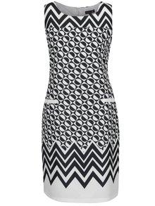 Čierno-krémové vzorované šaty Smashed Lemon