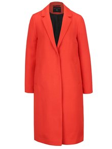 Palton subțire roșu Dorothy Perkins cu buzunare