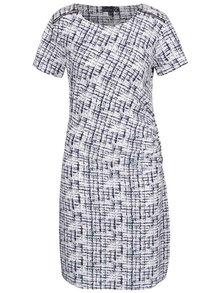 Modro-bílé vzorované šaty se zipy na ramenou Smashed Lemon