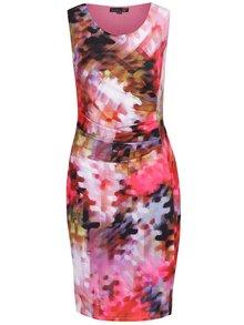 Ružové puzdrové vzorované šaty Smashed Lemon
