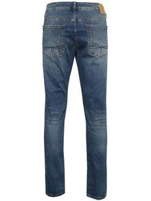 Modré pánské slim džíny s vyšisovaným efektem s.Oliver
