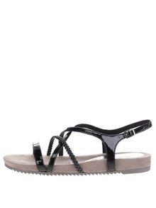 Čierne remienkové sandále Tamaris