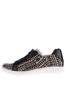 Pantofi sport negri Tamaris cu model