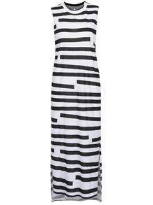 Černo-bílé maxišaty s průstřihem na zádech Cheap Monday
