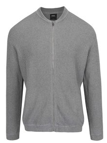 Cardigan gri cu fermoar Burton Menswear London