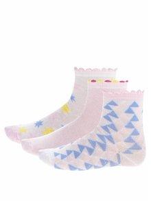 Sada troch párov dievčenských ponožiek v bielej a ružovej farbe 5.10.15