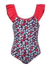 Červeno-modré dievčenské plavky so srdiečkami 5.10.15.