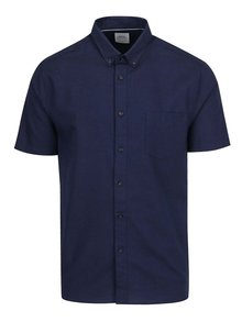 Modrá košeľa s krátkym rukávom Burton Menswear London