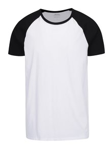 Tricou alb & negru Burton Menswear London din bumbac