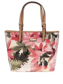Hnedá kvetovaná kabelka Gionni Albany