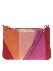 Ružová crossbody kabelka so semišovou prednou časťou Liberty by Gionni Josie