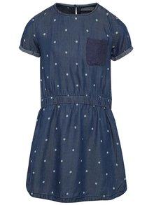 Tmavě modré holčičí puntíkované šaty 5.10.15.