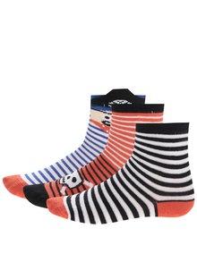 Červeno-modré pruhované klučičí ponožky 5.10.15.