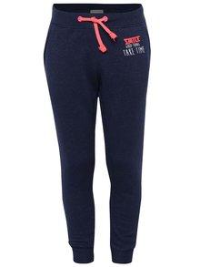 Pantaloni sport albastru închis 5.10.15. cu print și aplicație pentru fete