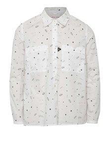 Biela dievčenská vzorovaná košeľa 5.10.15.