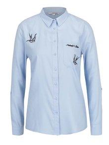 Modrá košile s výšivkou TALLY WEiJL