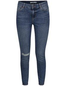 Modré slim fit džíny s potrhaným efektem VERO MODA Seven