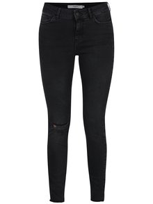 Černé slim fit džíny s potrhaným efektem VERO MODA Seven