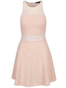 Růžové krajkové šaty TALLY WEiJL