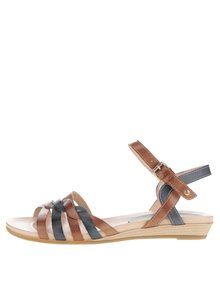 Sandale maro & albastru Pikolinos Alcudia din piele