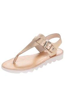 Kožené sandály ve zlaté barvě Pikolinos Albufera