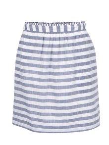 Modro-krémová pruhovaná sukně VILA Delika