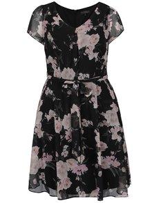 Černé květované šaty Billie & Blossom Curve