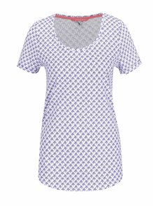 Modro-biele dámske tričko s potlačou hviezd Tom Joule Daily Print