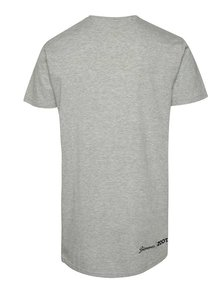 Šedé unisex tričko s černým potiskem Primeros Black hawk