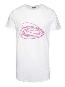 Bílé unisex triko s růžovým potiskem Primeros Innocent