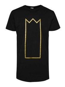 Čierne unisex tričko s potlačou v zlatej farbe Primeros Kingsize