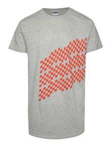Sivé unisex tričko s červenou potlačou Primeros Performax