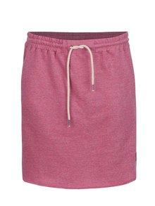 Fustă roz melanj Tranquillo Hansine din bumbac organic cu talie elastică