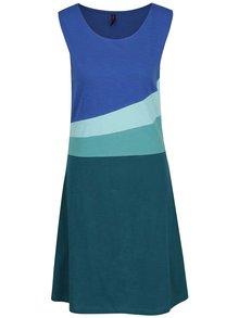 Modro-zelené vzorované šaty Tranquillo Tilda