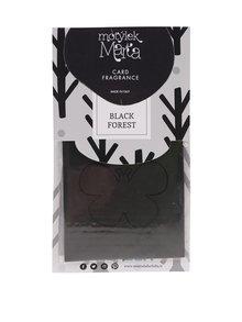 Černá vonná karta do bytu Motýlek Marta Black Forest