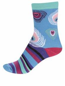 Súprava troch dámskych ponožiek v modrej a červenej farbe Oddsocks Stacey