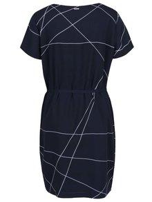 Tmavě modré volné vzorované šaty Nautica