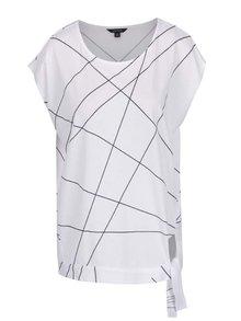 Bílé dámské volné tričko s uzlíkem na boku Nautica