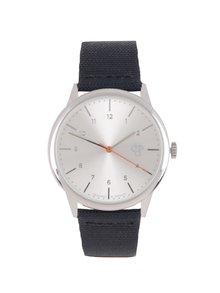 Unisex hodinky ve stříbrné barvě s páskem z veganské kůže CHPO  Rawiya Classic Silver
