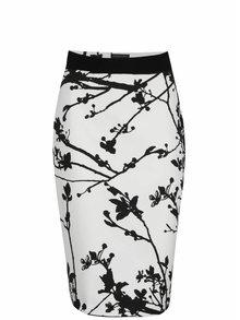 Černo-bílá pouzdrová sukně s potiskem Pietro Filipi