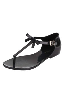 Černé sandály s mašlí Melissa Honey