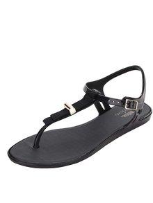 Černé sandály s černou mašlí Melissa Solar
