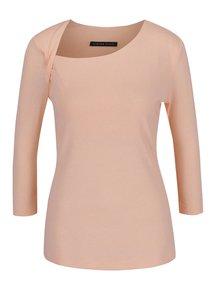 Světle růžové dámské tričko s asymetrickým výstřihem Pietro Filipi