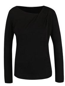 Čierne dámske tričko s asymetrickým výstrihom Pietro Filipi